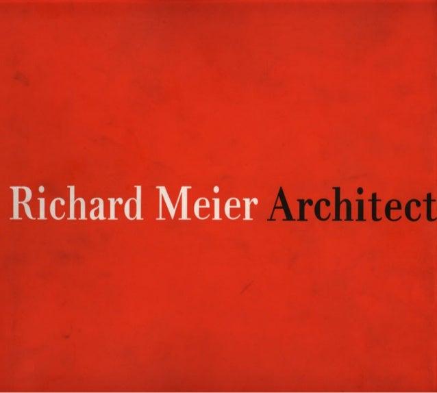 Richard meier   architect - red book