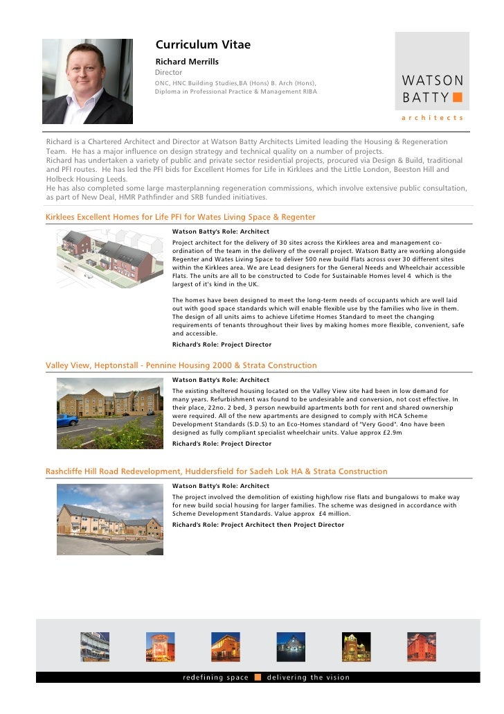 Curriculum Vitae                                Richard Merrills                               Director                   ...