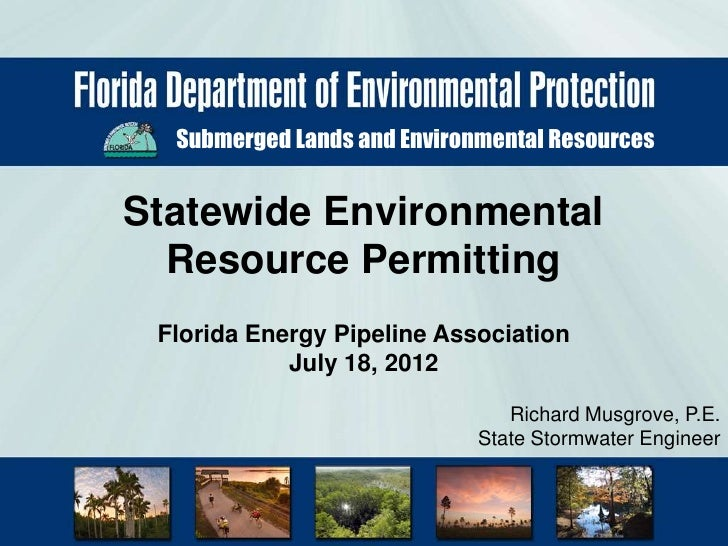 Submerged Lands and Environmental ResourcesStatewide Environmental  Resource Permitting Florida Energy Pipeline Associatio...