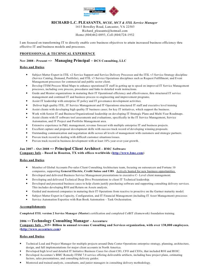 what is a resume for a job richard pleasants resume 12012010 14644 | richard pleasants resume 12012010 1 728