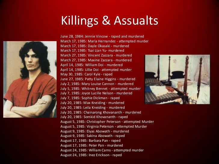 a description of the serial murderer richard ramirez as the right hand man of satan
