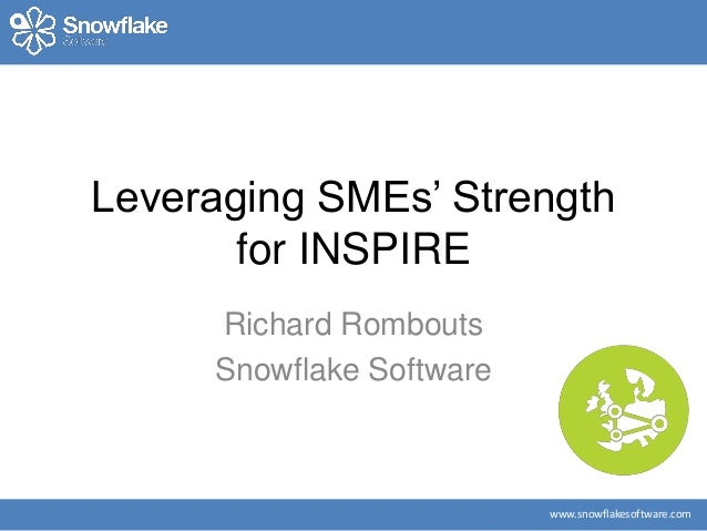 www.snowflakesoftware.com Leveraging SMEs' Strength for INSPIRE Richard Rombouts Snowflake Software