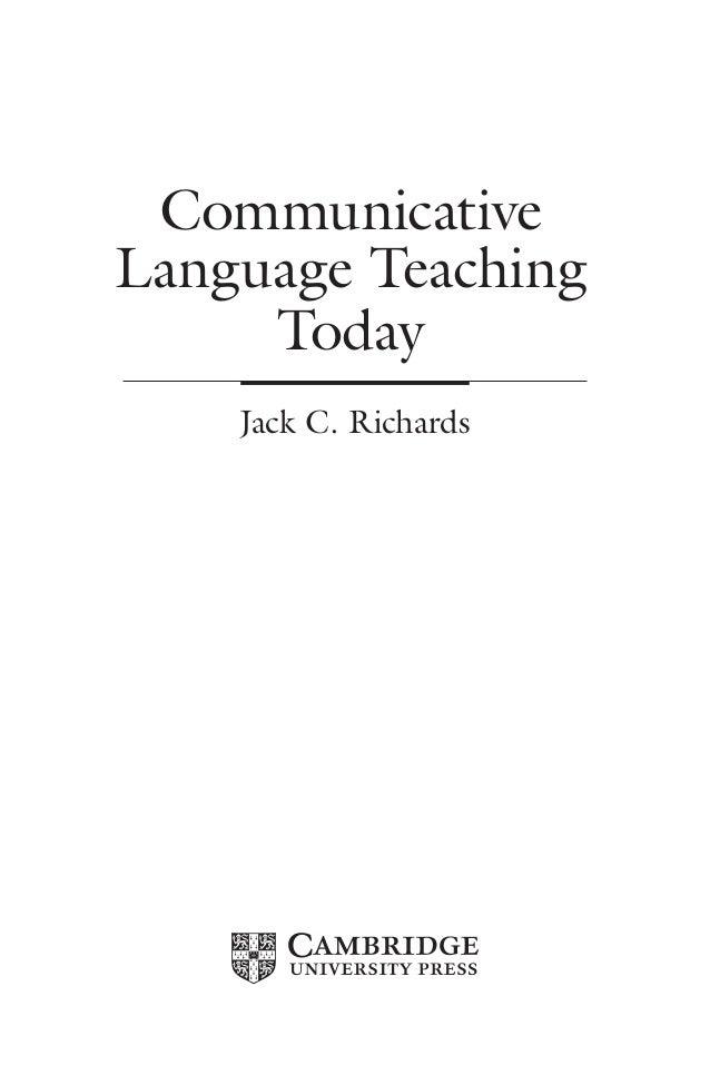 CommunicativeLanguage TeachingTodayJack C. Richards