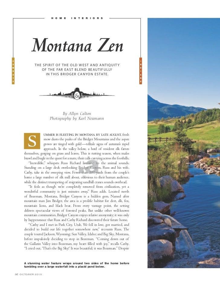 h o m e       i n t e r i o r sc                   Montana Zen                                                            ...