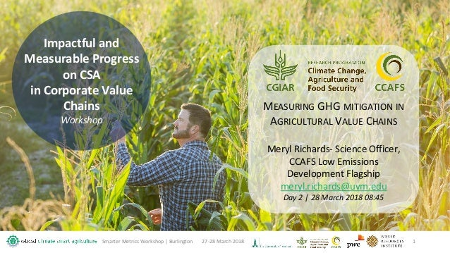 Impactful and Measurable Progress on CSA in Corporate Value Chains Workshop 27-28 March 2018Smarter Metrics Workshop | Bur...