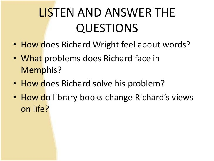 richard wright library card essay Richard wright certainly fits into this category but it is only toward the end of his   catholic and therefore maligned by most southerners, lends richard his library  card  through mencken's essays, richard learns the names of other american .