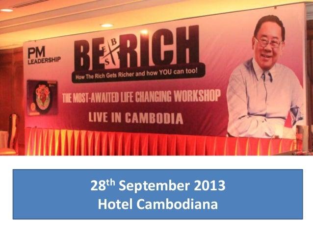 28th September 2013 Hotel Cambodiana