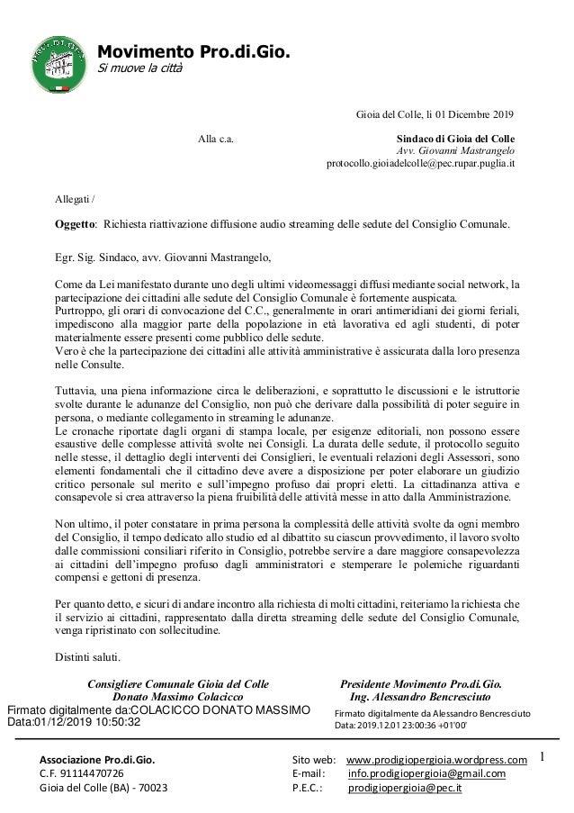 Associazione Pro.di.Gio. C.F. 91114470726 Gioia del Colle (BA) - 70023 Sito web: www.prodigiopergioia.wordpress.com E-mail...