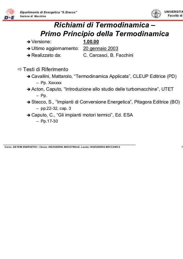 """Dipartimento di Energetica """"S.Stecco""""                                           UNIVERSITA' DI FIRENZE           Sezione d..."""