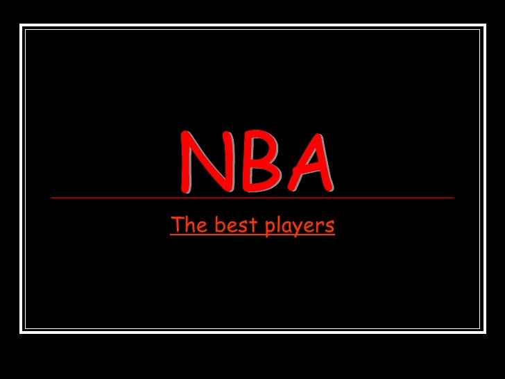 The best players NBA