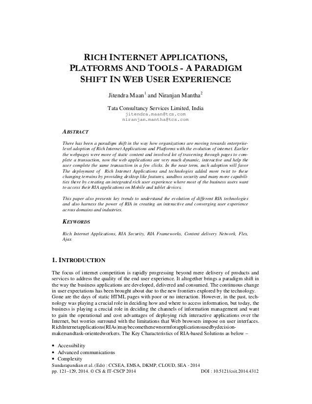 Sundarapandian et al. (Eds) : CCSEA, EMSA, DKMP, CLOUD, SEA - 2014 pp. 121–129, 2014. © CS & IT-CSCP 2014 DOI : 10.5121/cs...