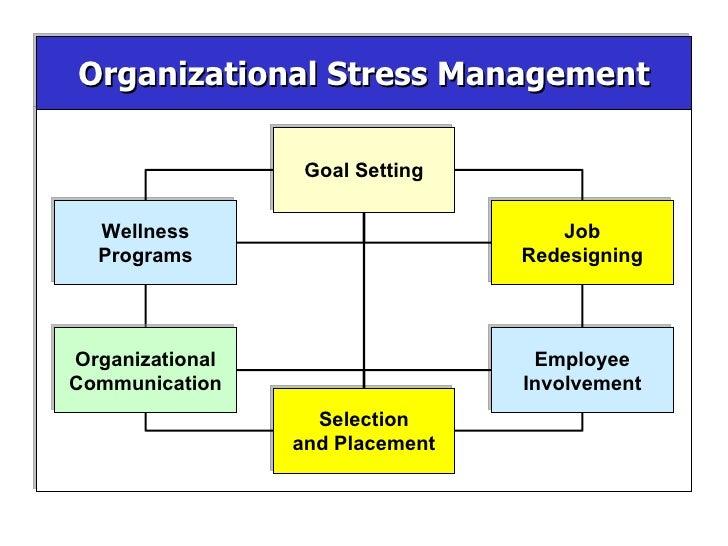 Organizational Stress Management Organizational Communication Employee Involvement Selection and Placement Job Redesigning...