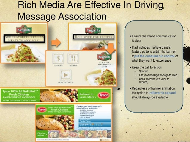 Rich Media Are Effective In DrivingMessage Association                           Ensure the brand communication          ...