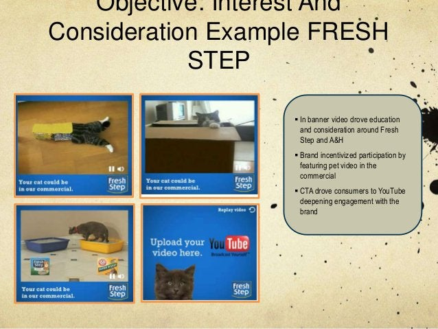 Objective: Interest AndConsideration Example FRESH            STEP                    In banner video drove education    ...