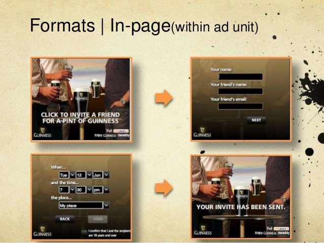 Formats   In-page(within ad unit)
