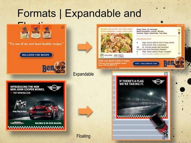 Formats   Expandable andFloating          Expandable           Floating