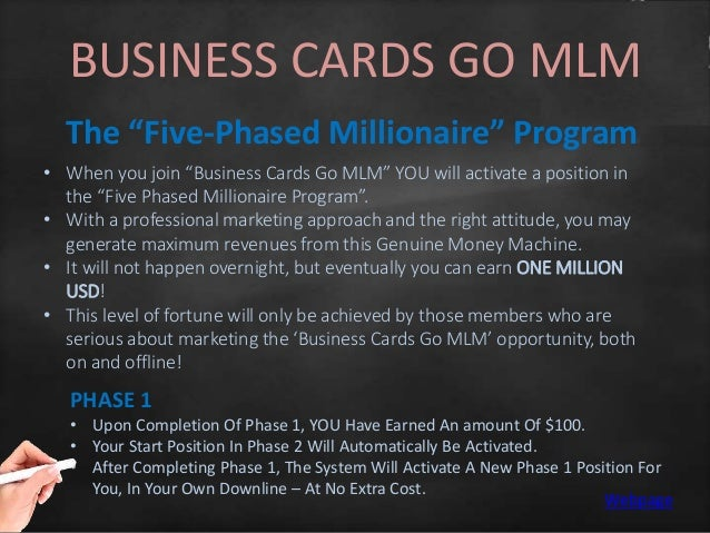 Rich mlm master class business cards go mlm colourmoves