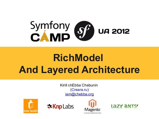 RichModelAnd Layered Architecture        Kirill chEbba Chebunin                (Creara.ru)            iam@chebba.org