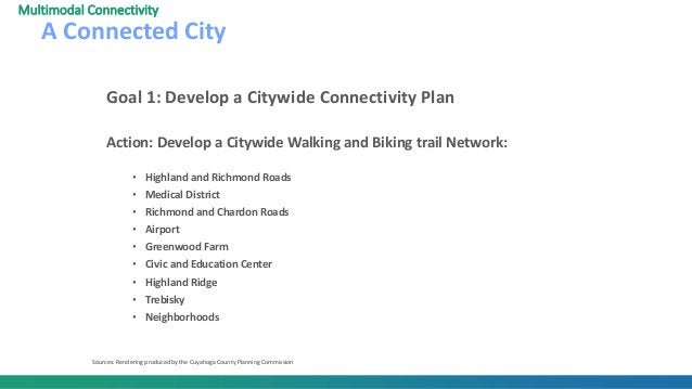 Goal 1: Develop a Citywide Connectivity Plan Action: Develop a Citywide Walking and Biking trail Network: • Highland and R...