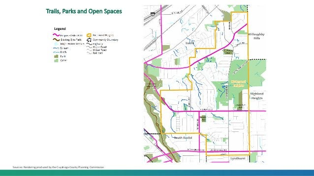 Trails, Parks and Open Spaces Sources: Rendering produced by the Cuyahoga County Planning Commission