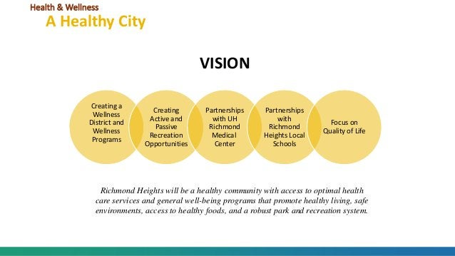 Creating a Wellness District and Wellness Programs Creating Active and Passive Recreation Opportunities Partnerships with ...