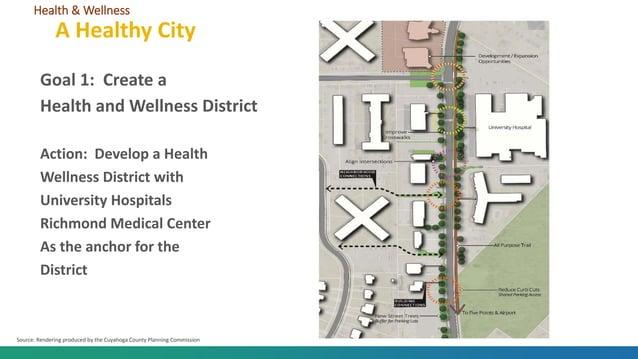 Goal 1: Create a Health and Wellness District Action: Develop a Health Wellness District with University Hospitals Richmon...