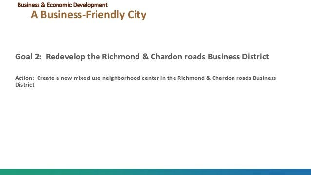 Goal 2: Redevelop the Richmond & Chardon roads Business District Action: Create a new mixed use neighborhood center in the...