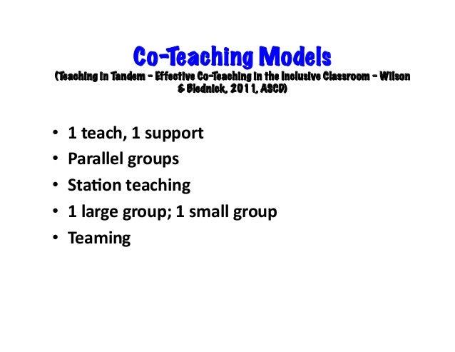 Collaborative Co Teaching Model ~ Richmond secondary co teaching
