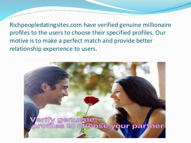 Wealthy men dating sites