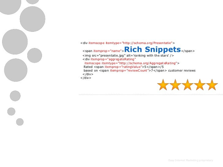"<div itemscope itemtype=""http://schema.org/Presentatie""> <span itemprop=""name"">  Rich Snippets                      </span..."