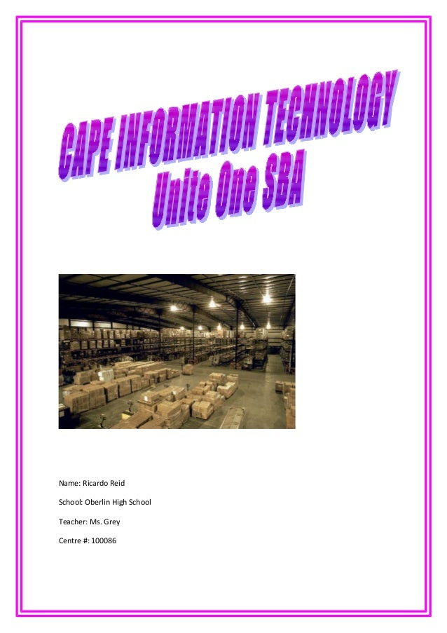 cape information technology unite 1 sba