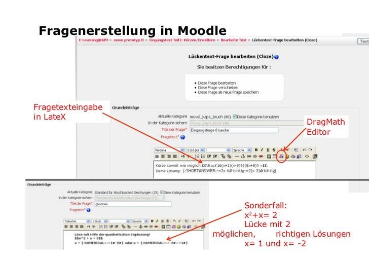 DragMath-Editor in Moodle