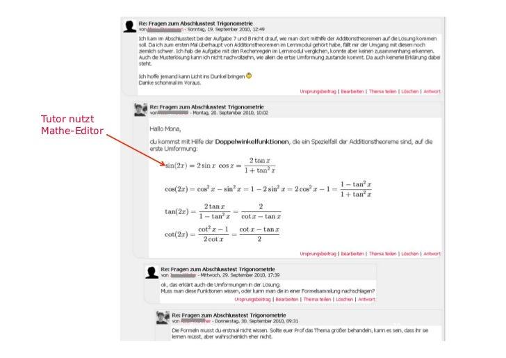 Teilnehmer        nutzen Mathe-        Editor eher nichtForen                            21
