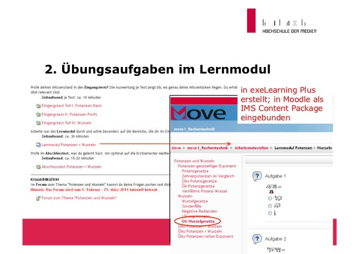 LateX-Editor in eXelearning                          Eingabe                          in LateX                Ausgabe als ...