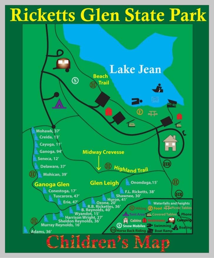 Ricketts Glen Childrens Map