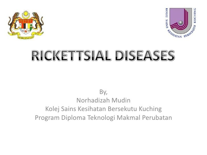 RICKETTSIAL DISEASES<br />By,<br />NorhadizahMudin<br />KolejSainsKesihatanBersekutuKuching<br />Program Diploma Teknologi...