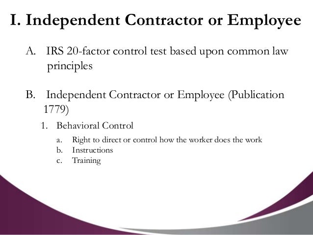 Compensation And Employment Tax Issues