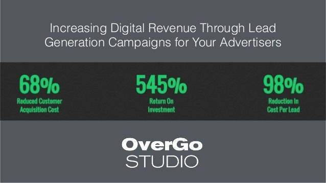 Increasing Digital Revenue Through Lead Generation Campaigns for Your Advertisers Slide 3