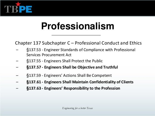 texas board  professional engineers professional practice update