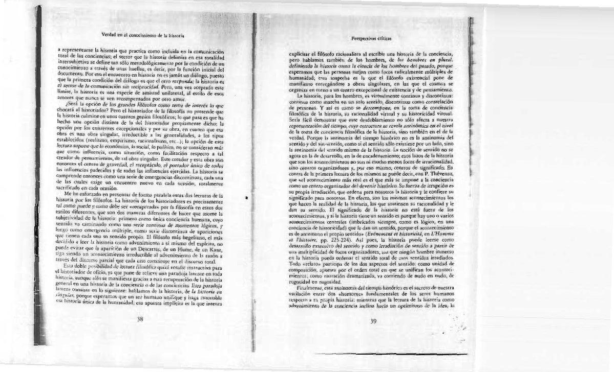 Ricoeur, Historia y Verdad
