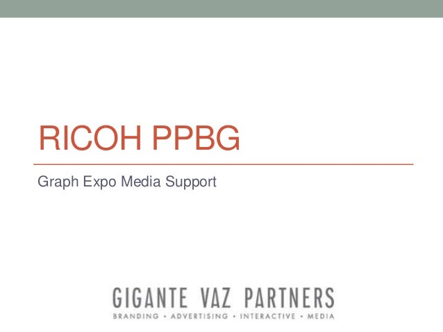 RICOH PPBG Graph Expo Media Support