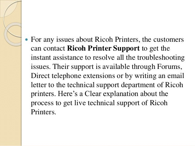 Ricoh support number 1844 305-3103