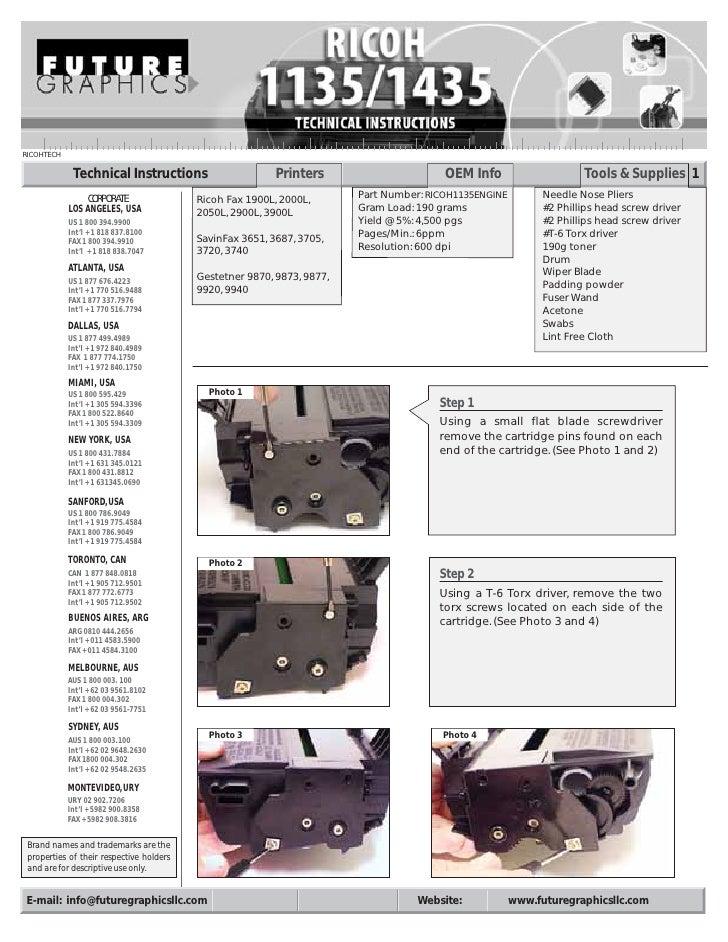 Manual de Recarga Ricoh Type 1135