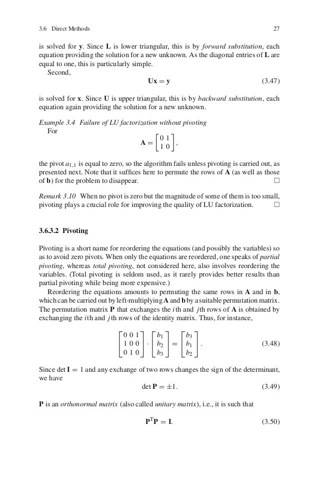A Students Guide to Numerical Methods