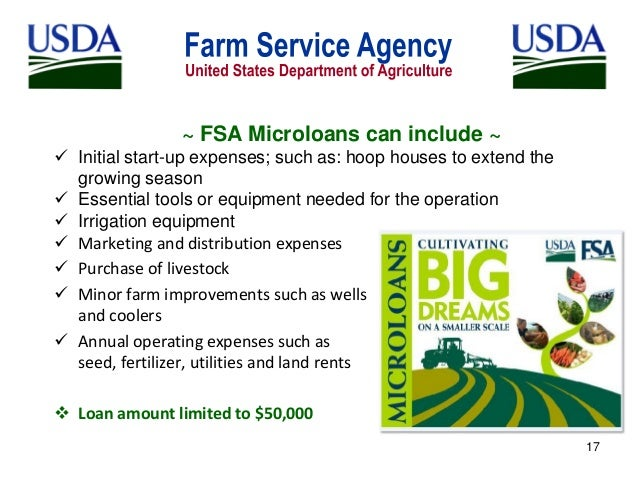 Ask FSA Andy about the MicroLoans program - Farm and Dairy
