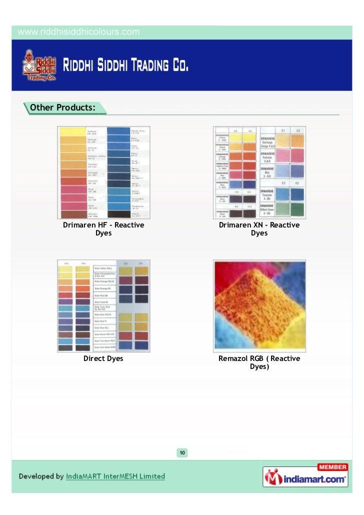 Other Products:       Drimaren HF - Reactive        Drimaren XN - Reactive               Dyes                          Dye...