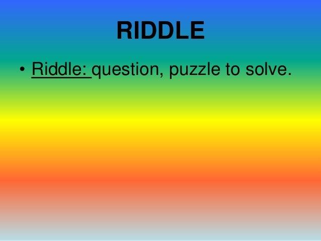 Riddles Slide 2