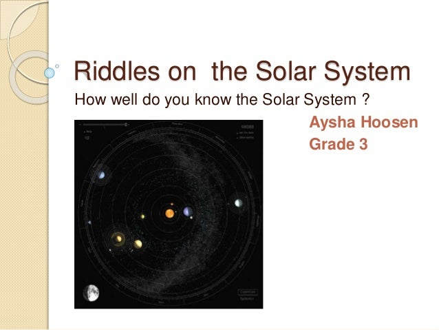 Riddles on the solar system