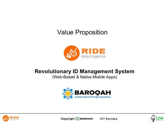 Copyright: ICT Services Value Proposition Revolutionary ID Management System (Web-Based & Native Mobile Apps)