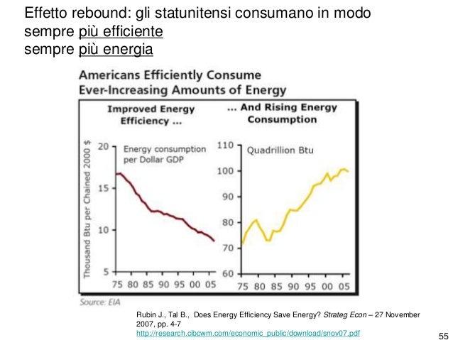 56 L'efficienza energetica e il consumo totale di energia aumentano da millenni insieme.